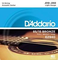 Струны для 12-струнной гитары D`Addario EZ940