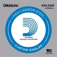 Отдельная 1-ая струна для акустической гитары, 009, D`Addario PL009 PLAIN STEEL