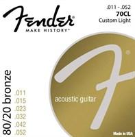 Стальные струны FENDER STRINGS NEW ACOUSTIC 70CL 80/20 BRONZE 11-52