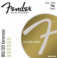 Стальные струны FENDER STRINGS NEW ACOUSTIC 70L 80/20 BRNZ BALL END 12-52