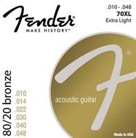 Стальные струны FENDER STRINGS NEW ACOUSTIC 70XL 80/20 BRNZ BALL END 10-48
