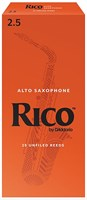 Трости для саксофона альт Rico RJA1025, размер 2.5, 10шт.
