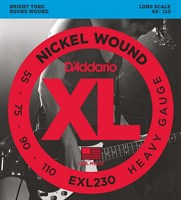 Струны для бас-гитары Long Heavy 55-110 D`Addario EXL230 XL NICKEL WOUND